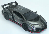 Lamborghini Veneno silber ca. 1:36 Sammlermodell 12,5cm Neuware von KINSMART