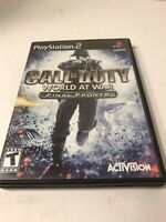 Call Of Duty: World At War Final Fronts - Sony PlayStation 2 PS2 - Complete CIB