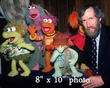 JIM HENSON MUPPETS Creator color photo with FRAGGLE ROCK Puppets 180