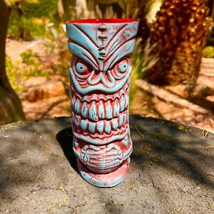 Frankie's Tiki Room Lava Letch Mug Spooky Blue Big Toe Las Vegas NEW COLOR