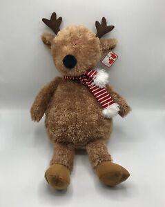 "Gund 20"" Reindeer Plush Candy Cane Striped Scarf Soft Holiday Stuffed Animal"