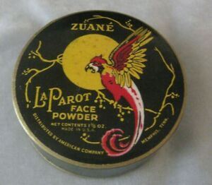 Zuane La Parot Vintage Art Deco Face Powder Sealed
