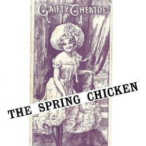 1905 Spring Chicken musical Gaiety Theatre programme Gertie Millar Monckton