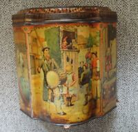 HUNTLEY & PALMERS Biscuit Tin Circus, Showman, Punch, Dog, Elephants