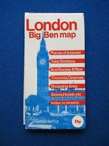 Geographia ' Big Ben '  Street Map & Street Index - London  c1978