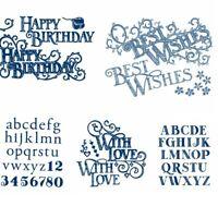 Letter Alphabets Creative Cutting Dies Stencil Album Embossing Handcraft Die-Cut