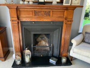 antique wooden fire surround