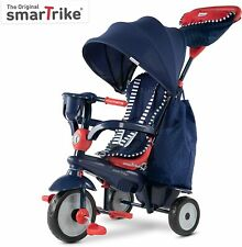 SmarTrike Classic Swirl 4 in 1 Kids Tricycle Trike 15 to 36 Months Blue Red NEW