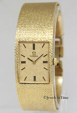 Omega Vintage 14k Yellow Gold Mens 22mm Bracelet Mechanical Watch D6751