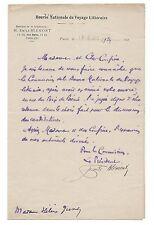 Lettre manuscrite Signé Émile Blémont Hélène Jung 1924 Autographe
