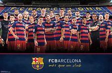 BARCELONA - 2016 TEAM POSTER - 22x34 FOOTBALL SOCCER MESSI NEYMAR 14487