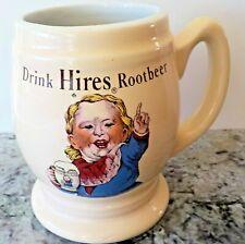 "Vintage ""Drink Hires Rootbeer"" Ceramic Mug [Crush International USA] (VGUC)"