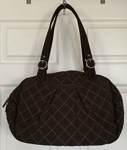 """NWOT Vera Bradley """"OH BABY"""" Diaper Bag Changing Pad Espresso Quilted Microfiber"""