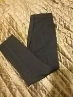 HOBBS Navy Blue Cropped Tapered Trousers Size UK 6 Pockets Career Work Smart