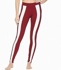 Puma Womens Activewear Bottoms Red White Size XL Striped Leggings $40- 305