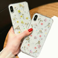 Fashion Real Dried Pressed Sweet Flowers Phone Case For iPhone X XS MAX XR 8 7 6