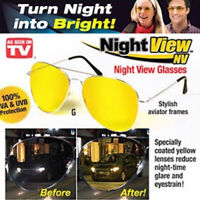 Polarized Yellow Lens HD Night Vision Sunglasses Anti-glare Car Driving Glasses