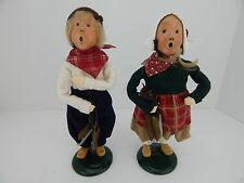 Byers Choice Carolers 1992 Dutch Girl and Boy with Wood Skate Blades