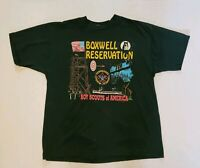 Vtg 90s Boy Scouts T-Shirt XL Boxwell Reservation Made In The USA Green