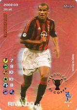 FOOTBALL CHAMPIONS 2002-03 Rivaldo PROMO 8 Milan FOIL ITA WIZARD