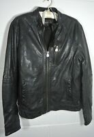 Mens river island Genuine leather jacket