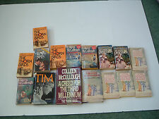 Colleen McCullough 16 mixed reading club book lot  Tim. the thorn birds,