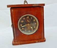 ANTIQUE OLD WINDING SYSTEM INTERMITTENT BRAND CLOCK IN WOODEN CABINET JAPAN?