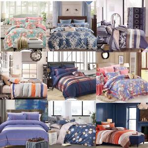 2020 New Design All Size Bed Quilt Duvet Doona Cover Pillowcase Set 100% Cotton