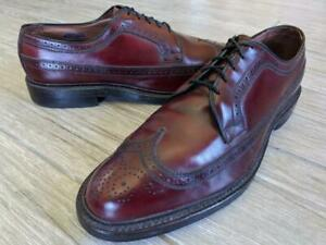 usa made ALLEN EDMONDS wingtips MACNEIL 11 C shoes oxblood burgundy dress