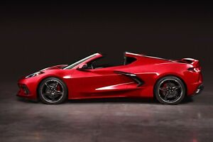 2020 CHEVROLET CORVETTE RED (SIDE VIEW) POSTER 24 X 36 INCH AWESOME!!!