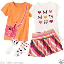 NWT Gymboree PANDA ACADEMY Outfit Lot,Top,Shirt,Skirt,2 Pack Socks,Size 4