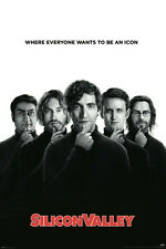 Silicon Valley Poster BRAND NEW Icons Steve Jobs Apple Google IBM Tech computers