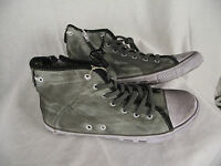 BNWT Older Boys Mens Sz 5 Rivers Doghouse Brand Grey Grunge Look High Top Boots