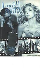 PUBLICITE ADVERTISING  1987    KARL LAGERFELD  parfum PHOTO