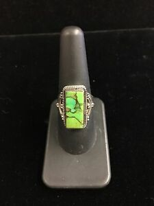 .925 Sterling Silver Carico Lake Turquoise Ring