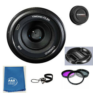 YONGNUO YN40mm 40mm F2.8N Lens Kit for Nikon D5500 D7200 D3500 D5600 + Filters