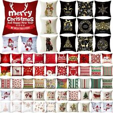 Christmas Xmas Square Cushion Cover Pillow Case Throw Sofa Bed Home Decors *