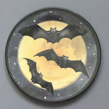 "Halloween Bats Melamine Tidbit Candy Appetizer 6"" Side Plates Set of 6"