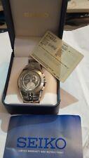 Seiko Arctura Kinetic SSteel Sapphire Crystal Chronograph Watch 7L22-0AJ0 SNL025