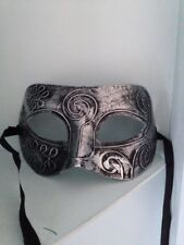 Silver  Mask . Mascarade Or Ball Tie On Mask . Fancy Dress Mask For Men