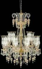 Aico Furniture - Garnier Clear Glass Gold 15 Light Chandelier - Aic-Lt-Ch900-15G