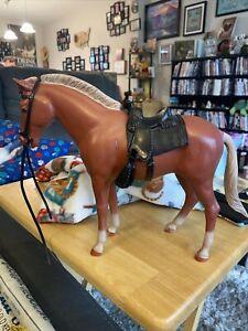 Vintage 1968 Marx Best of the West Johnny West Sorrel Pancho Pony Horse W Saddle