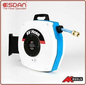 Retractable Caravan RV Drinking Water hose reel 15m Motor home Australian