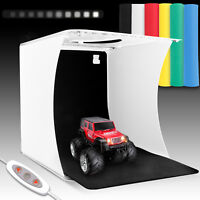 Double LED Light Room Photo Studio Photography Lighting Tent Kit 6 Backdrop Box