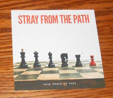 Stray from the Path Only Death is Real Sticker 2017 Promo 4x4 Square (chess)