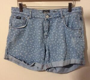 Ladies Superdry Shorts Blue W30 Boyfriend Short Used SUPERDRY SHORTS 30