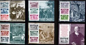 Portugal Sc #1918-1923 Columbus 500th Anniversary Mini-Sheets, Mint Never Hinged