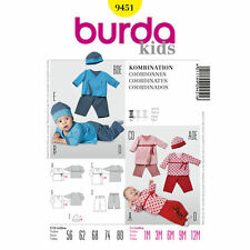 Burda Sewing Pattern 9451 size 1m-12m  Babies Crossover Lined Top Pants Hat