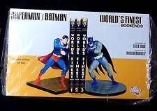 Superman and Batman World's Finest Bookends Statue Set New 2007 DC Comics