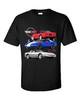 2005 Black Chevy Corvette Custom Hot Rod Mountain T-Shirt 05 Muscle Car Tees